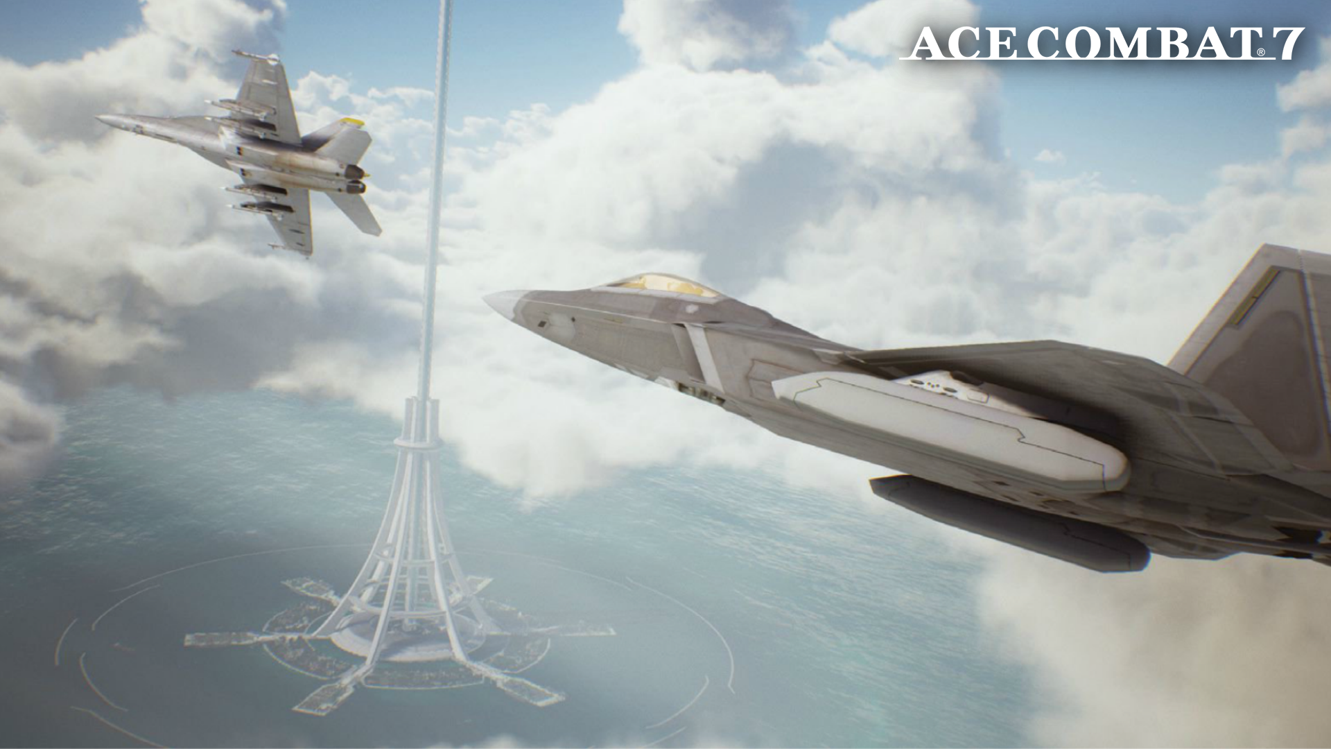Image result for ace combat 7 space elevator